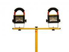 Lexa Ladattava LED- työmaavalaisin 2x10W jalalla   2x10W LED