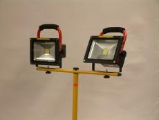 Lexa Ladattava LED- työmaavalaisin 2 x 30W, jalalla