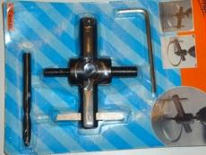 Aukkopora metallille ja puulle, säätöalue: 20-123mm