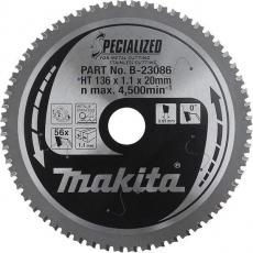 Makita Pyörösahanterä HM 136mm, Z-56, B-23086 Akkumetallisahat