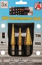Porraspora-/ kartioporasarja 3-os. 3-12, 4-12, 6-20mm