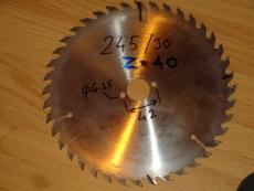 Edullinen teroitettu sirkkelinterä/pyörösahanterä 245/30/2.6 Z40