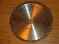 Edullinen teroitettu sirkkelinterä/pyörösahanterä 250/30/3.0 Z60. Alumiiniterä, max.6000k/min