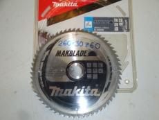 Pyörösahan-/ sirkkelinterä 250/30/2.3 Z60 puuterä kovametallihampaat. Makita