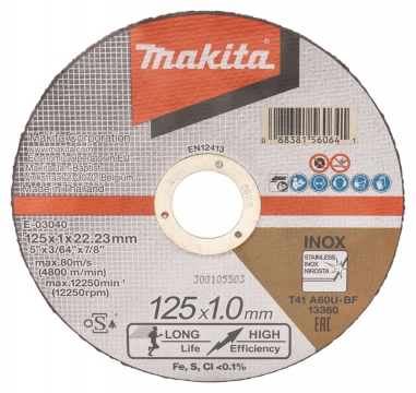 Makita Katkaisulaikka Ø125x1,0 12kpl RST