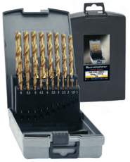 TIN-pinnoitettu HSS- Lieriöporasarja, 25-os 1,0-13mm 0,5mm:n välein