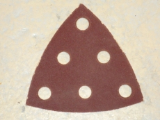 Kolmio-hiomapaperi Festool 93x93mm 6-pölynpoistoreikää