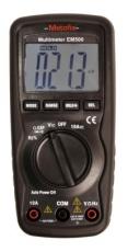 EM500 Digitaalinen yleismittari Kompaktin kokoinen ja kätevä yleismittari, jossa on automaattinen mittausalueen valinta