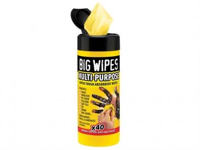 Big Wipes, Multi Purpose, 2-puoleiset tehokkaat puhdistusliinat 40kpl/pak