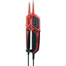 Testboy Profi III LED, 2-napainen jännitekoetin LED-näytöllä. Laitteella voidaan testata AC/DC jännitteitä 6V - 1400V, tarkastaa napaisuus, kiertokenttäsuunta ja läpäisy enit. 50 kΩ saakka
